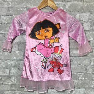 NWT Dora The Explorer Velvet Nightgown